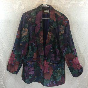 Vintage Alfred Dunner Large Floral Blazer Jacket